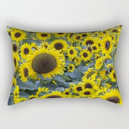 Fields of Sunflowers Rectangular Pillow