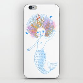 Coral the Mermaid iPhone Skin