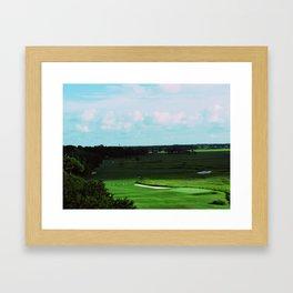 Golf Game Goals Framed Art Print