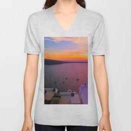 majestic Sunset Unisex V-Neck