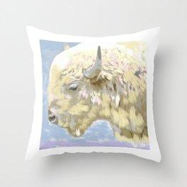 White buffalo calf Throw Pillow