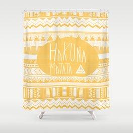 Hakuna Matata Yellow Shower Curtain