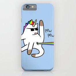 Unicorn Cat Rainbow Butt Laser iPhone Case