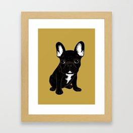 Brindle French Bulldog Framed Art Print