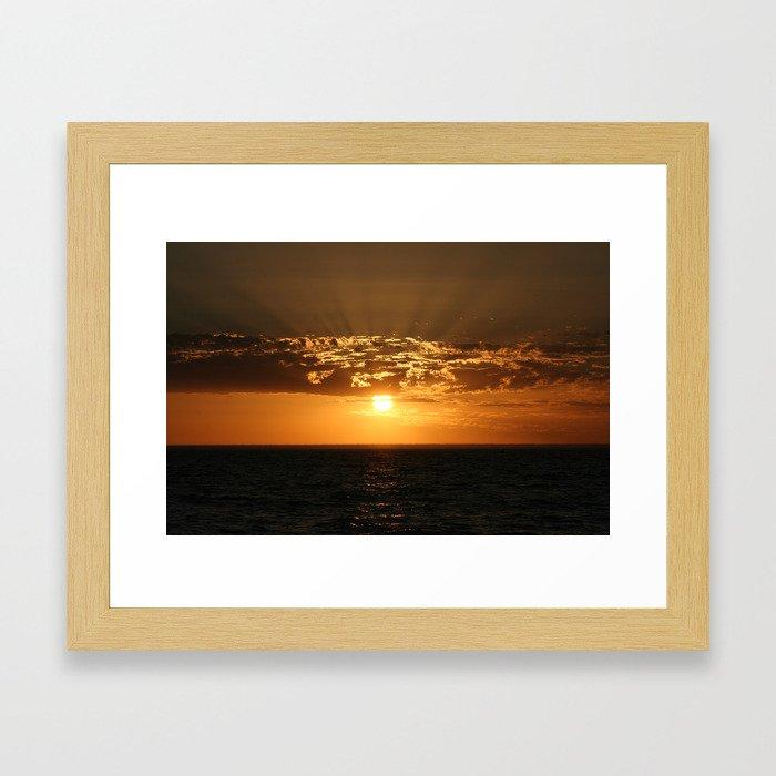 Good Night Sun Framed Art Print