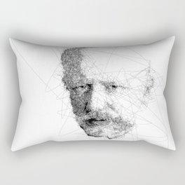 Pyotr Ilyich Tchaikovsky Abstract Black And White Portrait Rectangular Pillow