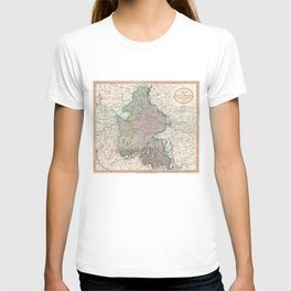 Vintage Map of Bavaria Germany (1799) T-shirt
