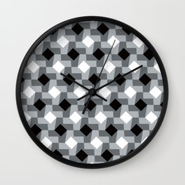 Blurry Houndstooth Wall Clock