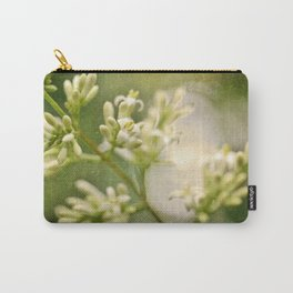 Smudgy Jasmine Macro Carry-All Pouch