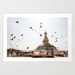 Stupa of Bodnath Art Print