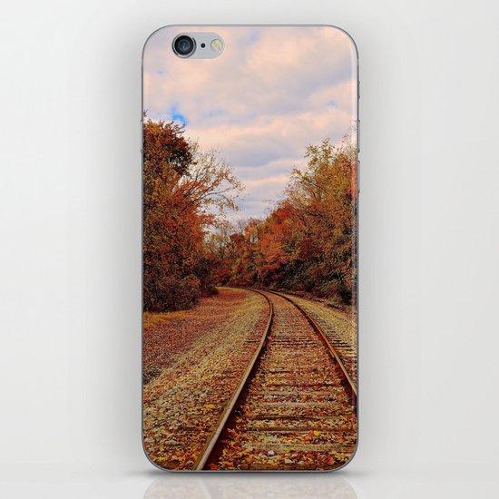 Fall on the Tracks iPhone & iPod Skin