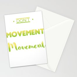 Awesome and Cool Parkour Tshirt Design Movement Stationery Cards