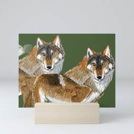 Totem Carpathian wolf Mini Art Print