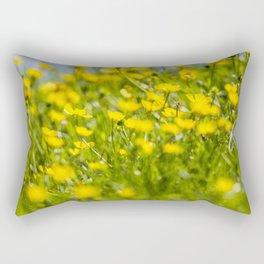 Buttercups in motion Rectangular Pillow