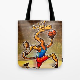 Olympic Basketball Giraffe Tote Bag
