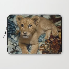 Lambert the Lion and His Blanket Laptop Sleeve