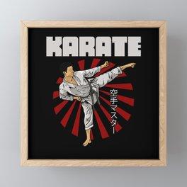 Karate Fighter Framed Mini Art Print