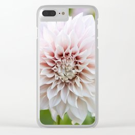Cafe Au Lait Dahlia Buds and Bloom Clear iPhone Case