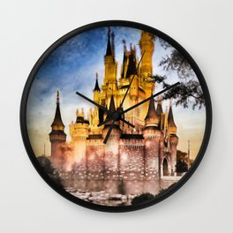 Castle Reflection Wall Clock