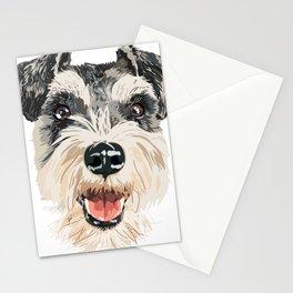 Smiling Schnauzer  Stationery Cards