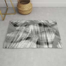 Tartan Cliffs -- grayscale Rug