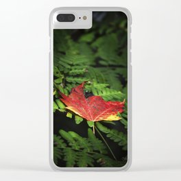 Whispering Leaf Clear iPhone Case
