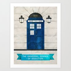 Doctor Who & Sherlock Art Print