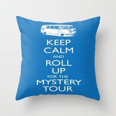 Calmly Roll Up For The Mystery Tour Throw Pillow
