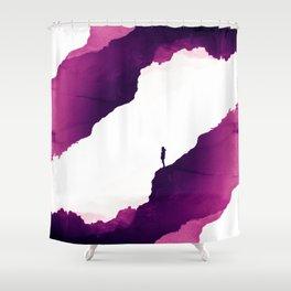 Purple Isolation Shower Curtain