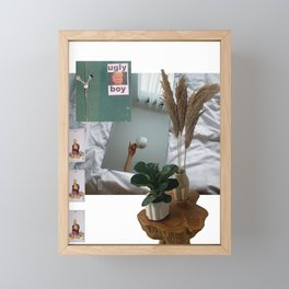 Ugly Boy Graphic Collage Poster Framed Mini Art Print