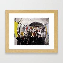 London Underground Subway Going To Work Part 2 Framed Art Print