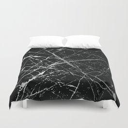 Silver Splatter 090 Duvet Cover