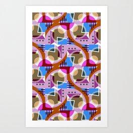 C13D GeoFlow Art Print
