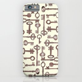 Old Keys-Yellow iPhone Case