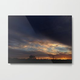 Drama in the Sky Metal Print