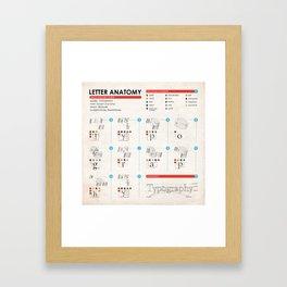 Letter Anatomy Instructions Framed Art Print