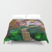 warcraft Duvet Covers featuring Welcome in Darnassus by Studinano by Shou'