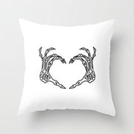 Skeleton Love Throw Pillow