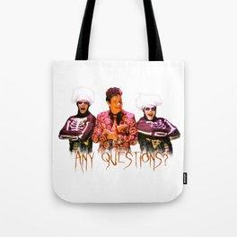 David S. Pumpkins - Any Questions? Tote Bag
