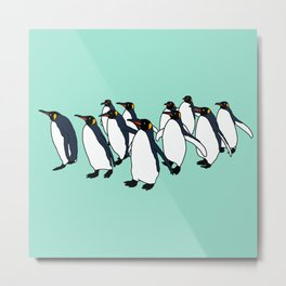 March of Penguins Metal Print