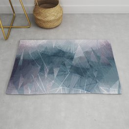 Ameythist Crystal Inspired Modern Abstract Rug