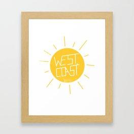 West Coast Sun Framed Art Print