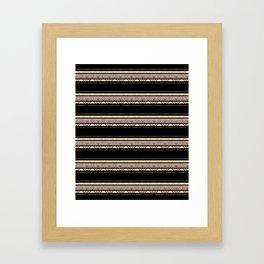 The horizontal decorative strips. Framed Art Print