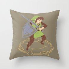 8-Bit Memories-  Legend of Zelda Throw Pillow
