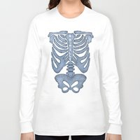 bastille Long Sleeve T-shirts featuring Bastille Skeleton by OhHolyBastille
