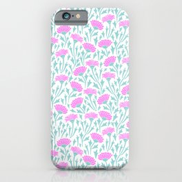 Spring field of pink margarites iPhone Case