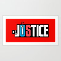 Ms. Justice Logo Art Print