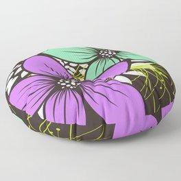 Flowers for One Floor Pillow