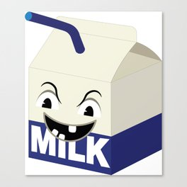 angry milk Canvas Print