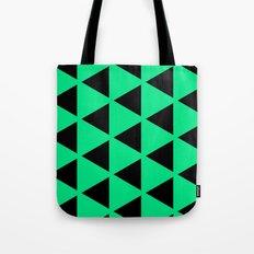 Sleyer Black on Green Pattern Tote Bag
